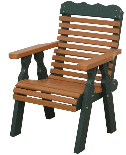 Amish Seaside 22 Inch Plain Back Poly Composite Chair