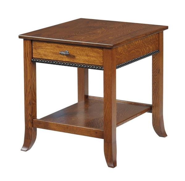 Amish Cranberry End Table