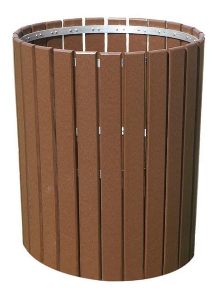 Slatted Poly Outdoor Trash Bin