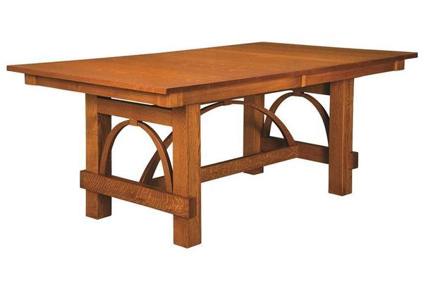 Amish Ellis Trestle Dining Table