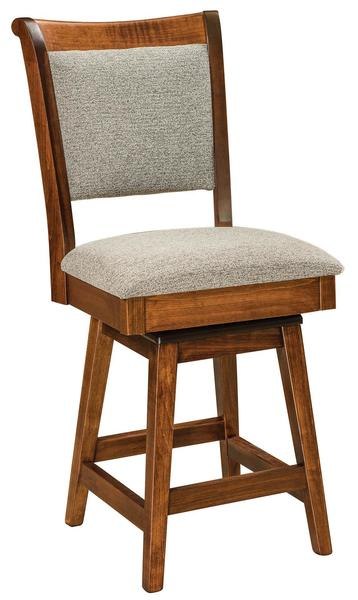 Amish Adair Bar Stool with Swivel