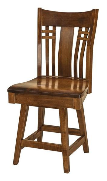 Amish Mission Bennett Swivel Bar Stool