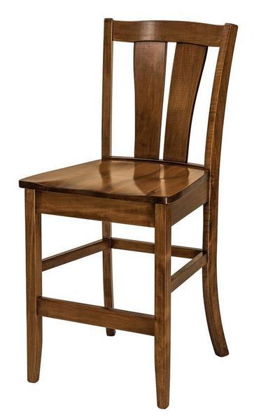 Amish Brawley Stationary Bar Stool