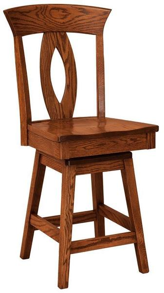 Amish Brookfield Swivel Bar Stool