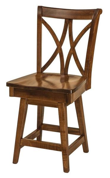 Amish Callahan Bar Stool with Swivel
