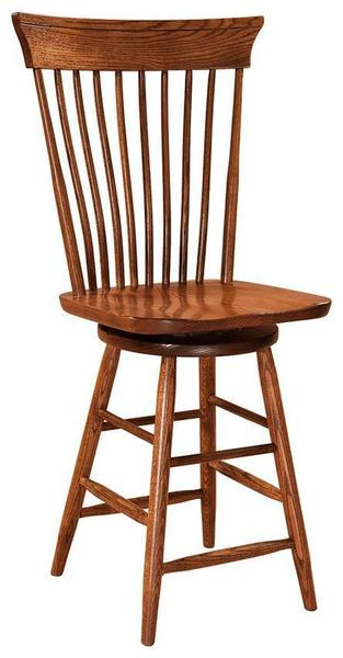 Amish Concord Swivel Bar Stool