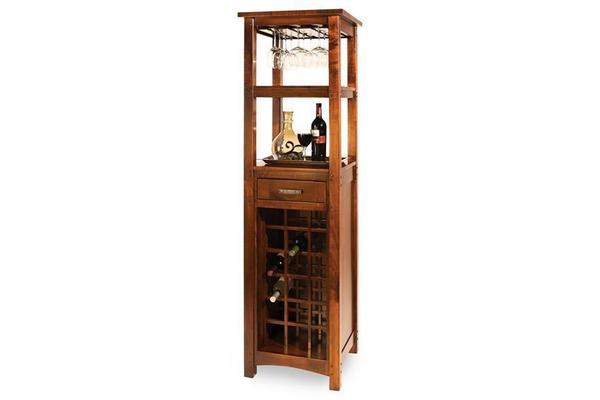 Amish Brunswick Wine Cabinet