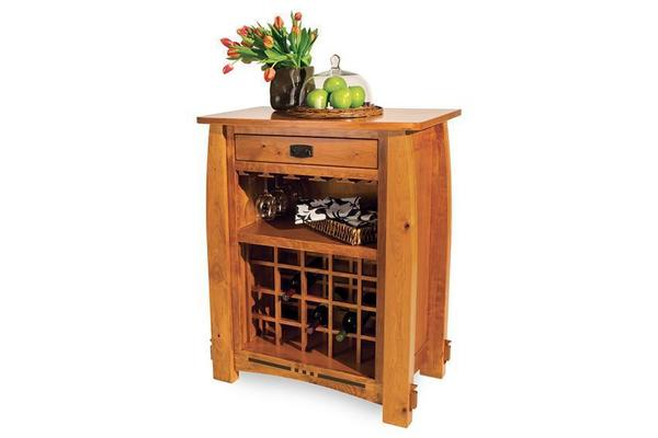 Amish Colebrook Wine Cabinet