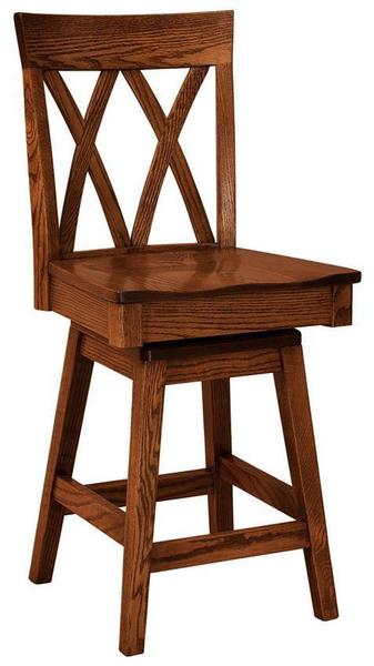 Amish Herrington Swivel Bar Stool