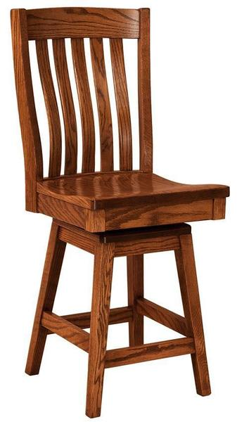 Amish Houghton Mission Bar Stool with Swivel