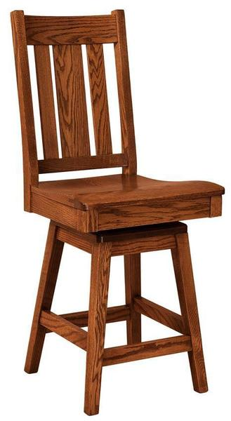 Amish Jacoby Mission Swivel Bar Stool