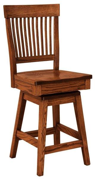Amish Jefferson Bar Stool with Swivel
