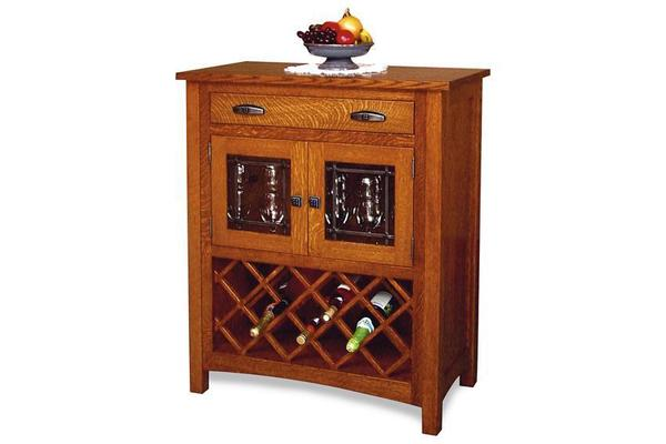Amish Regal Wine Cabinet