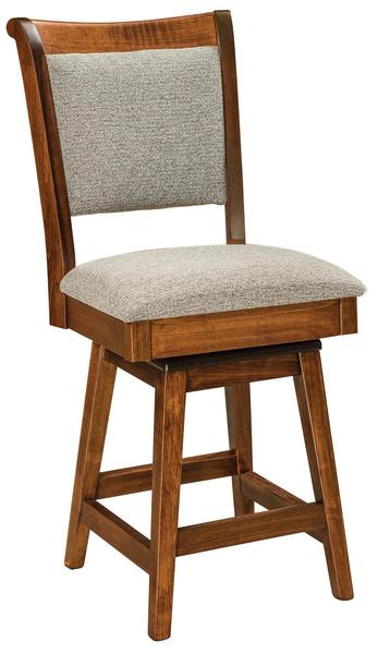 Kimberly Upholstered Stool with Swivel