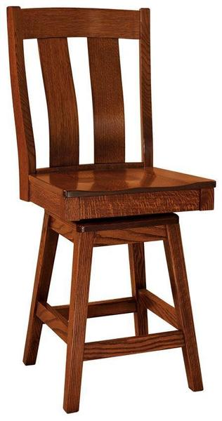Amish Laurie Mission Stool with Swivel