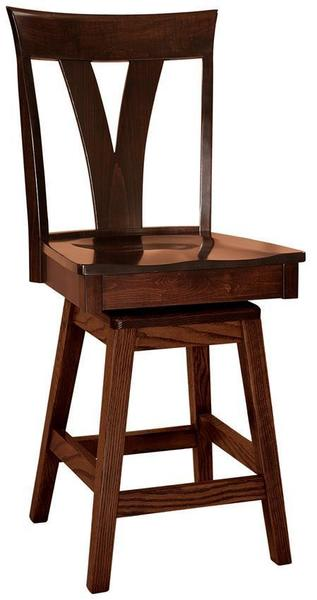 Amish Levine Stool with Swivel