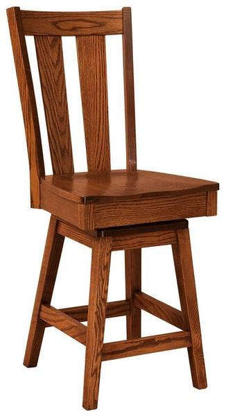 Amish Newberry Bar Stool with Swivel