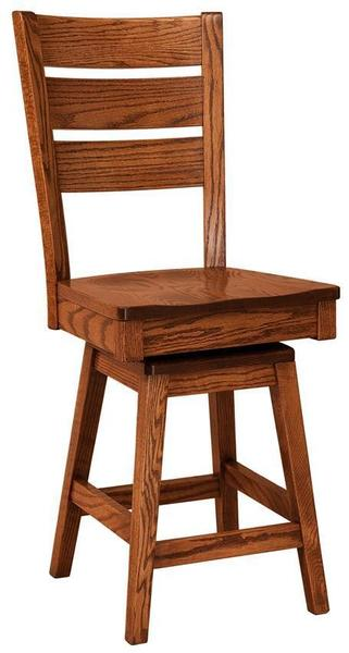 Amish Savannah Swivel Bar Stool