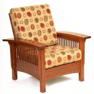 Amish Mission Morris Lounge Chair with Adjustable Back