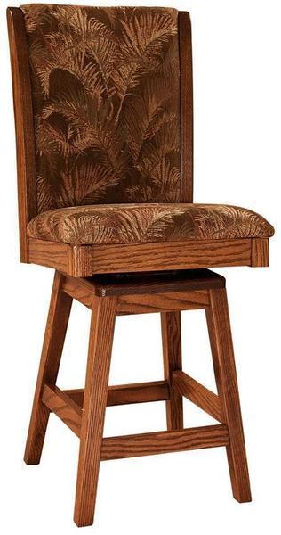 Amish Sherita Upholstered Bar Stool with Swivel