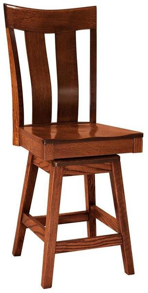 Amish Sherwood Bar Stool with Swivel