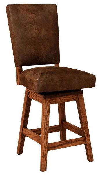 Amish Warner Parsons Stool with Swivel