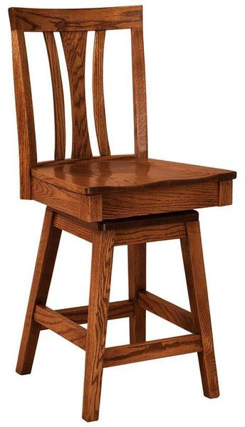 Amish Waldron Swivel Bar Stool