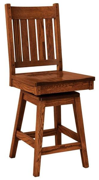 Amish Williamsburg Mission Bar Stool with Swivel