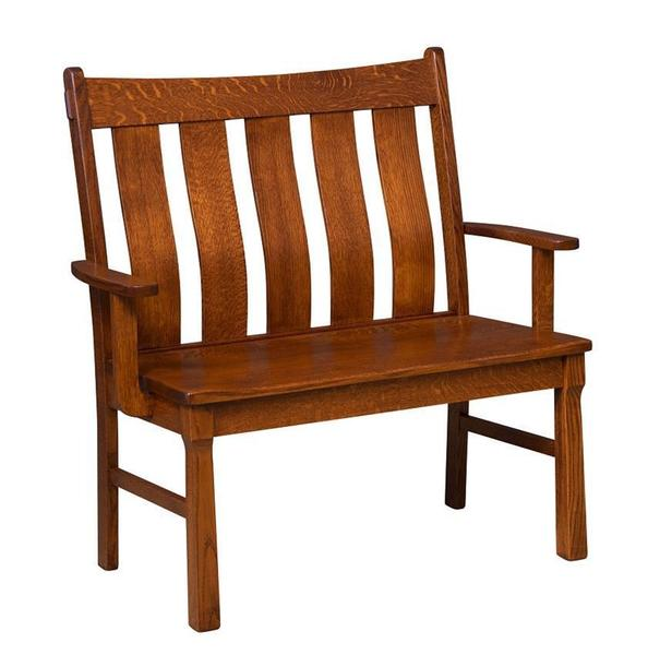 Beaumont Mission Bench From DutchCrafters Amish Furniture