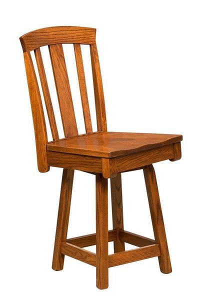 Amish Brady Swivel Bar Stool