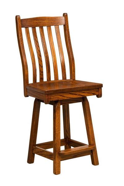 Amish Lincoln Mission Swivel Bar Stool