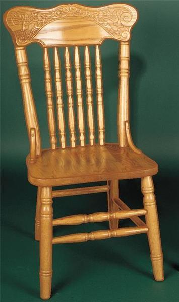 Amish Press Back Dining Chair