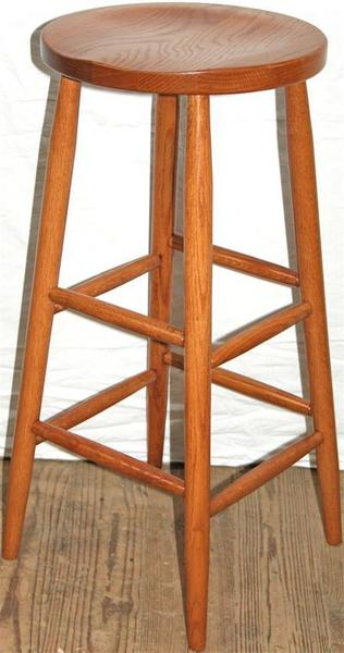 Amish Backless Shaker Bar Stool