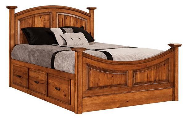 Amish Highland Platform Storage Bed