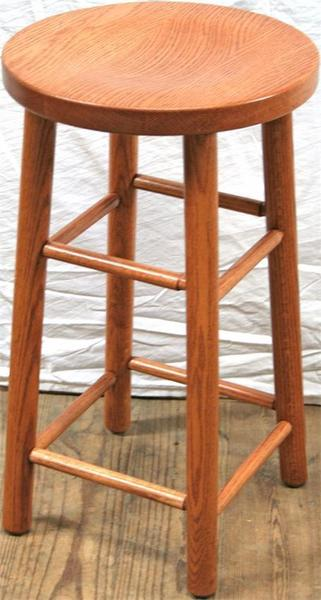 Amish Wood Dowel Leg Bar Stool