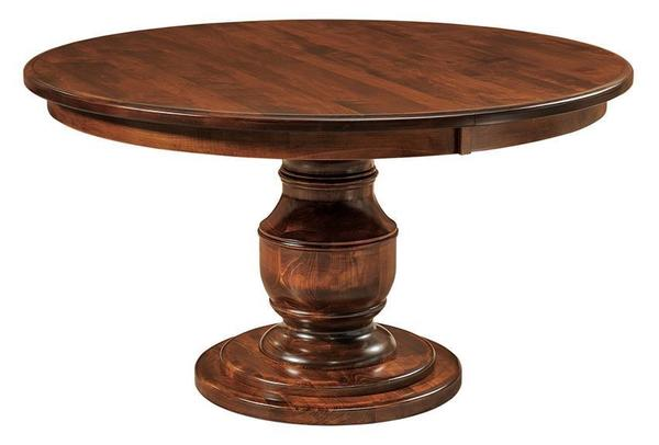 Amish Burlington Single Pedestal Table
