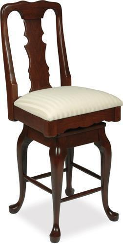 "Amish Queen Anne 24"" Swivel Bar Stool"