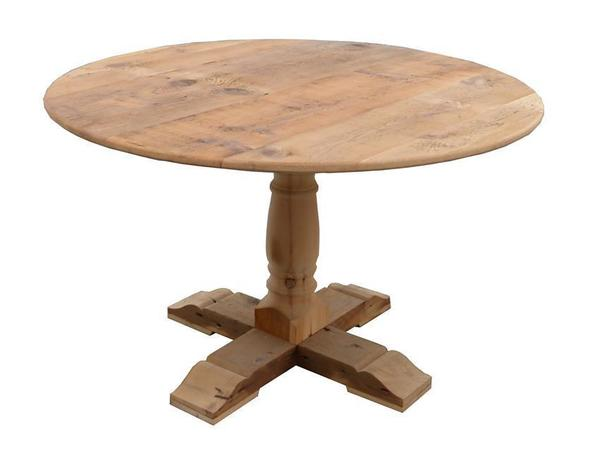 Amish Reclaimed Wood Round Dining Table