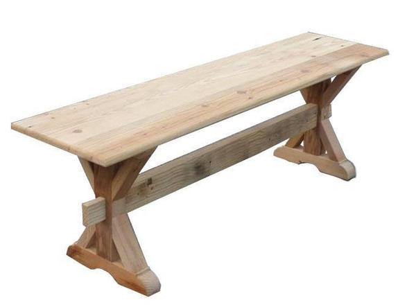 Amish Reclaimed Barn Wood X-Trestle Bench