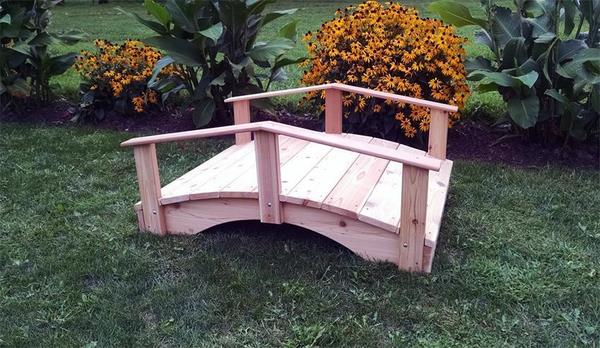 Amish Red Cedar Wood Bridge