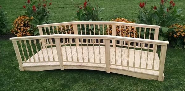 Amish Made 4' x 12' Spindle Bridge