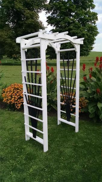 Wood Country Arbor with Lattice