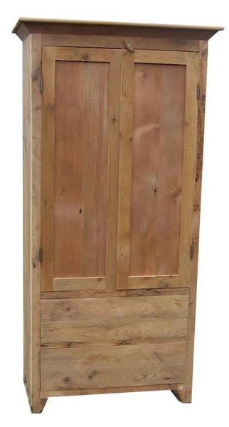 Amish Linden Reclaimed Barnwood Armoire