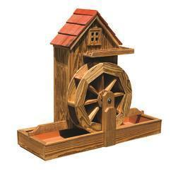 Amish Waterwheel Gristmill with Electric Pump