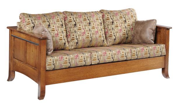 Amish Cranberry Sofa