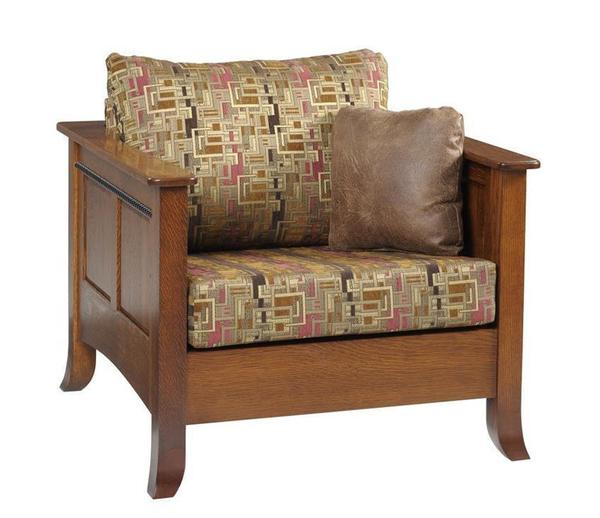 Amish Cranberry Lounge Chair