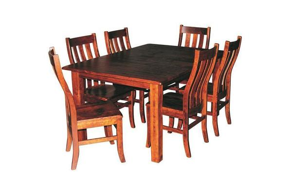 Amish Ragal Leg Table Dining Set (Quick Ship)