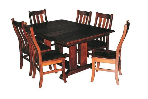Amish Ragal Trestle Table Dining Set (Quick Ship)