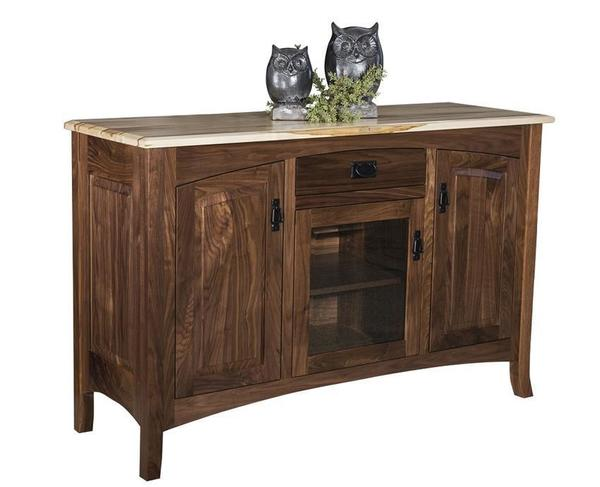 Amish Cambria Mission Sideboard with Removable Wine Rack