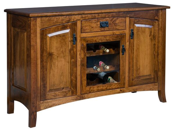 Amish Cambria Sideboard with Removable Wine Rack